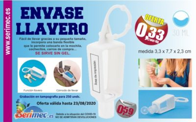 ENVASE DE GEL / LLAVERO